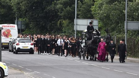 Songs by Bob Marley and Stormzy were played at the service Picture: SONYA DUNCAN