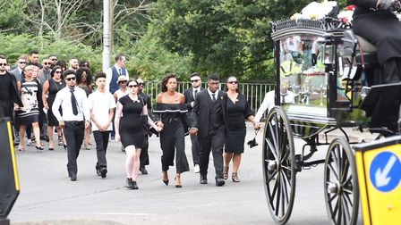 Relatives, friends and community leaders attended the ceremony Picture: SONYA DUNCAN