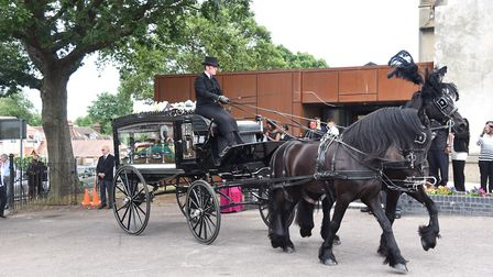 Around 800 people attended the funeral Picture: SONYA DUNCAN