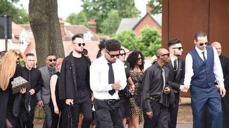 Mourners arriving at the church Picture: SONYA DUNCAN