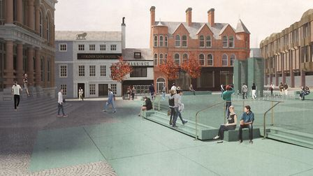 An artist's impression showing the cobbles Picture: IPSWICH VISION