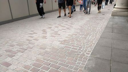 Critics say the gaps between setts are too wide Picture: ARCHANT