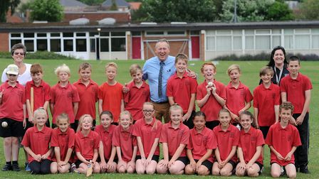 The last day at Needham Market Middle School before its closure in 2015 Picture: PHIL MORLEY