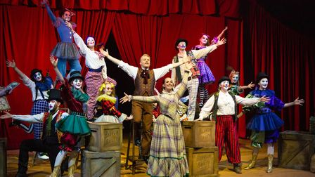 The Co-op Juniors Theatre Company stage Barnum in the big top at Wherstead Park Pictures: MIKE KWASN