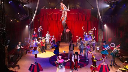 A dazzling array of circus skills inthe Big Top Picture: MIKE KWASNIAK