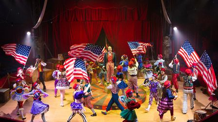 An all-action routine from the Co-op Juniors Theatre Company's Barnum Picture: MIKE KWASNIAK