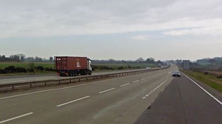 The incident happened beside the A14 near Seven Sisters Picture: GOOGLE