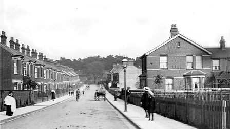 Broomhill Road, Ipswich, has cars both sides for most of the time now. When this photograph was take