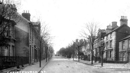 Christchurch Street, Ipswich, around 1920 and not a car in sight Picture: DAVID KINDRED ARCHIVE