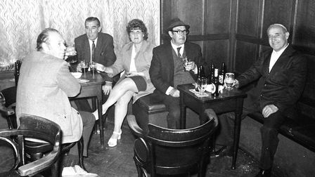 Regulars enjoying a drink in the bar Picture: DAVID KINDRED