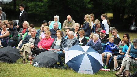 A Brass on the Grass concert will be staged in Christchurch Park this weekend. Picture: GREGG BROWN