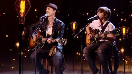Britain's Got Talent finalists Jack and Tim Goodacre, from Eccles. Picture: ITV