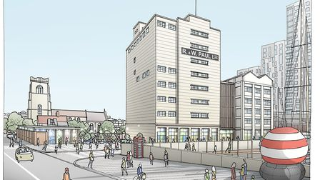 Ipswich Central's artistic suggestion of what the area could look like Picture: ALLIES & MORRISON