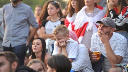 Fans despair as England are knocked out of the World Cup 2018 Picture: SARAH LUCY BROWN