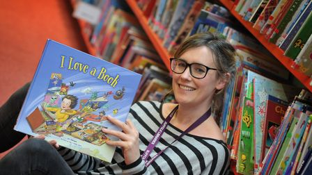 Sophie Green at Ipswich County Library's launch of the Beano-themed summer reading challenge. Pictur