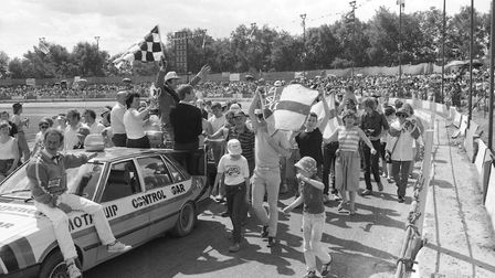 Were you among the crowd for the World Hot Rod finals at Foxhall Stadium in 1985? Picture: OWEN HINE