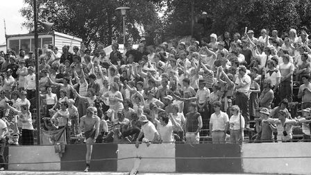 World Hot Rod Finals at Foxhall Stadium in 1985 Picture: OWEN HINES