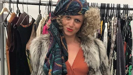Jo Darby on set for Mamma Mia! Here We Go Again Picture: JO DARBY