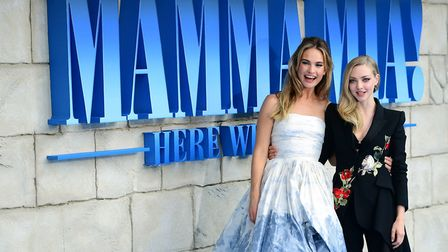 Lily James and Amanda Seyfried attending the premiere of Mamma Mia! Here We Go Again in London Pictu