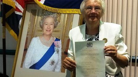 Inga Lockington received her British citizenship at a cerenmoy at Ipswich Register Office. Picture: