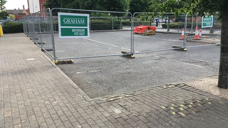New signs have gone up at the former Chimichanga site in Cardinal Park Picture: ARCHANT