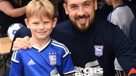 The 2017 Ipswich Town open day. Left to right, Josh Taylor and Luke Chambers. Picture: GREGG BROWN