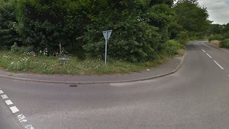 The crash happened at the junction between Bell Lane and Foxhall Road Picture: GOOGLE