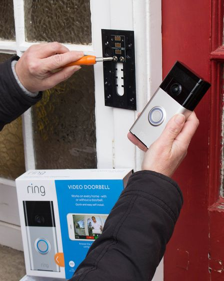 A Ring Video Doorbell being installed. Picture: SUFFOLK POLICE