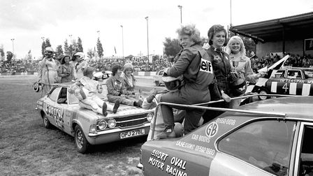 The winners on their lap of honour at the World Hot Rod Championships Picture: OWEN HINES