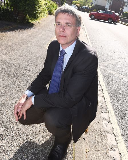 Paul West met with campaigners in Cliff Lane last month to understand their concerns Picture: GREGG