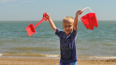 Parker Gatland loving the sunshine in Felixstowe Picture: SARAH LUCY BROWN