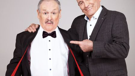 Cannon and Ball appear in The Dressing Room Picture: PAUL COLTAS