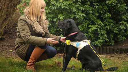 Carolyn Allum was devastated when her guide dog Ally was forced to retire at just six years old - s