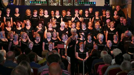 Funky Voices at a 2017 charity concert for St Peter's on the Waterfront in Ipswich. Picture: FUNKY V