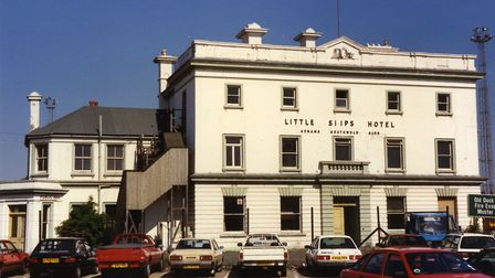 The Little Ships Hotel, Felixstowe, in May 1990. It was built as the Pier Hotel in 1883 at the site
