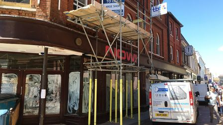 Work has started to convert the former Grimwades store into a new Pret a Manger. Picture: PAUL GEATE