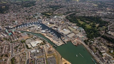 Aerial shots of the Ipswich tidal barrier, summer 2018 Picture: ENVIRONMENT AGENCY