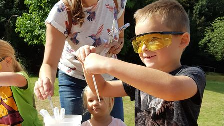 The hands-on activities gave children a chance to see science in action Picture: RACHEL EDGE