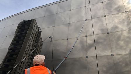There are nearly 900 windows to clean at the Willis building Picture: JAKE FOXFORD
