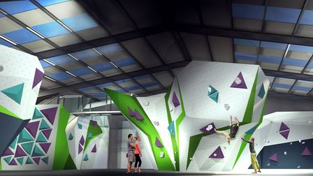 A cgi of how the new Avid Climbing Centre, opening in Ipswich this autumn, could look.