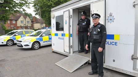 Police presence on the Nacton estate this summer following the stabbing of Tavis Spencer-Aitkens Pic