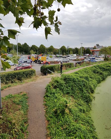 A body has had been discovered in the River Gipping near London Road, Ipswich Picture: RACHEL EDGE