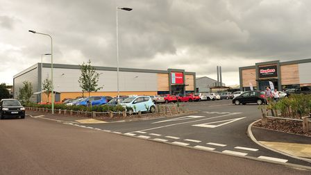 Home Bargains and Hughes Electrical in Beardmore Park Picture: SARAH LUCY BROWN