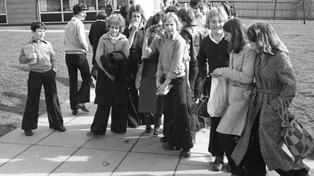 Do you know anybody wearing some splendid 70s flares in the picture taken at Chantry School in March