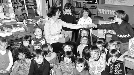 Lessons at Chantry Infants School, Ipswich, in April 1977. Are you in any of the photographs from o