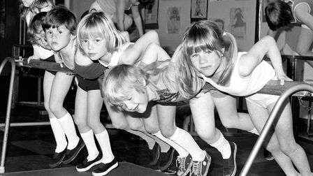 Young pupils keeping fit at Chantry Infants School, Ipswich, in April 1977 Picture: PAUL NIXON