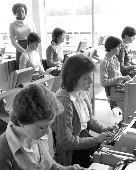 It was typing lessons for the girls and car mechanics for the boys at Chantry School in March 1977 P