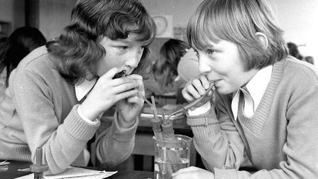 What was going on here? Pupils at Chantry School in March 1977 Picture: JERRY TURNER