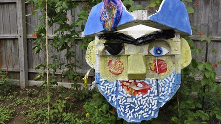 Help to complete a giant plastic pirate at Ferry Fest in Felixstowe. Picture: JAYNE LINDILL