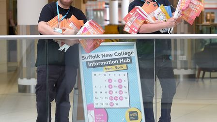 Pop-up careers advice at the Sailmakers Shopping Centre in Ipswich. Picture: PAGEPIX